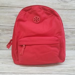 Tory Burch Brilliant Red Ella Nylon Backpack